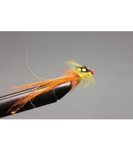 "Flame cascade pig orange tail 1/2"" Nylon tube"