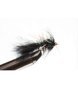 BH Fritz Woolly Bugger Rubberlegs Black Koko 10