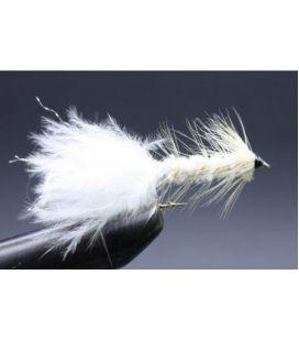 Wolly bugger White Storlek 8