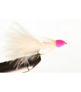 Leech White pink head Size 8