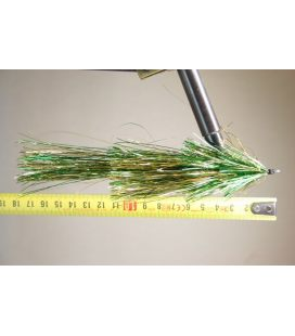 Green/gold tinsel 3/0