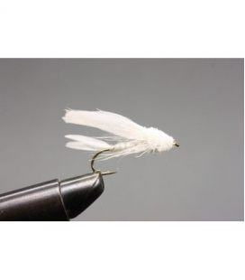 White sparkel muddler Size 8
