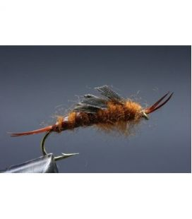 Stonefly brown kaufman Size 8